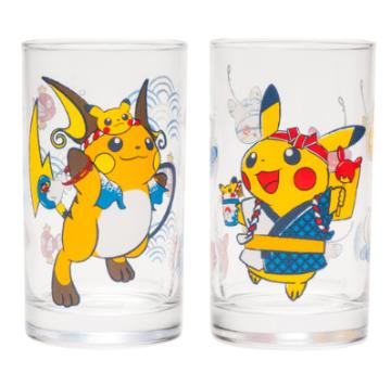 "Glass set ""Collect them all! Festival Pikachu set"""