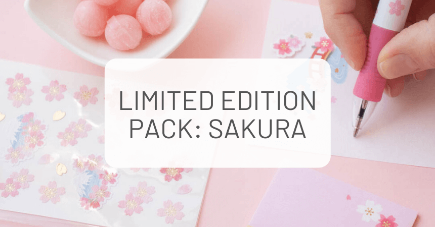 ZenPop Limited Edition Pack: Sakura Stationery and Sweets