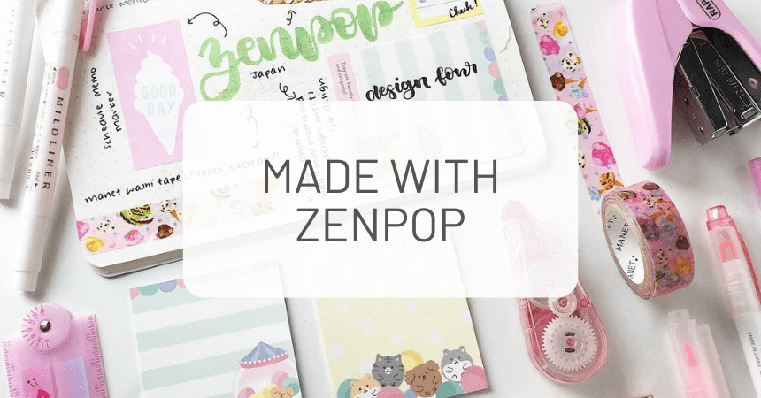 Made with ZenPop: Monthly Stationery Challenge