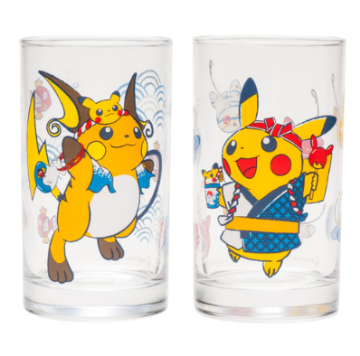 "Glass set ""Collect them all! Festival Pikachu set"""